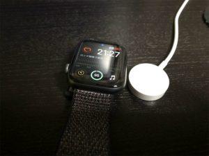 Apple Watch4の充電時間はどれくらい?0%→100%計測!